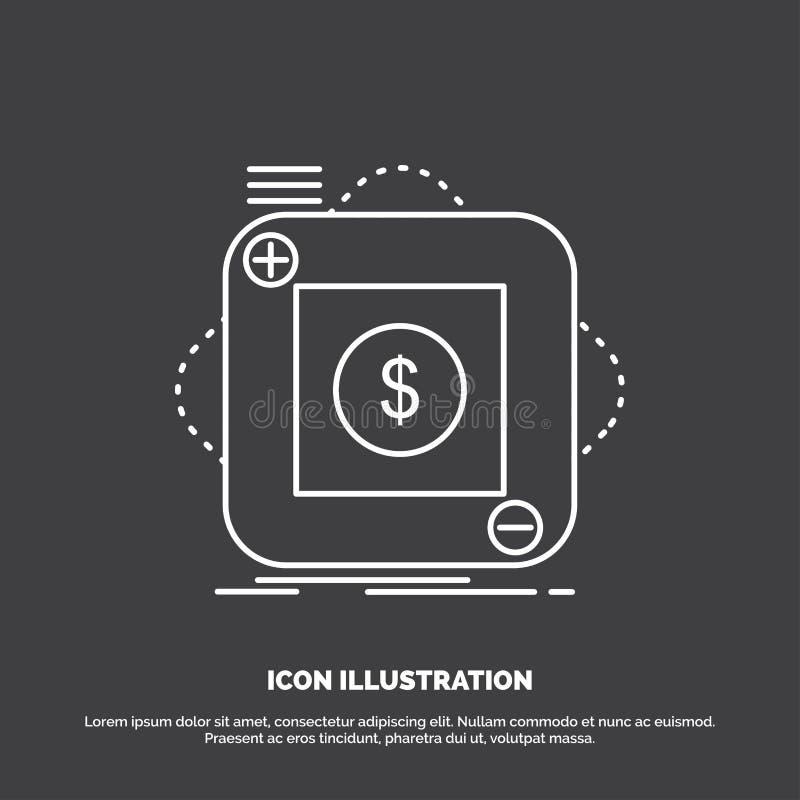 Kauf, Speicher, App, Anwendung, bewegliche Ikone Linie Vektorsymbol f?r UI und UX, Website oder bewegliche Anwendung lizenzfreie abbildung