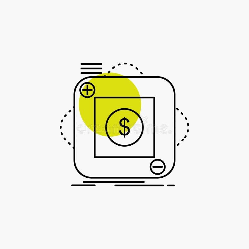 Kauf, Speicher, App, Anwendung, bewegliche Linie Ikone lizenzfreie abbildung