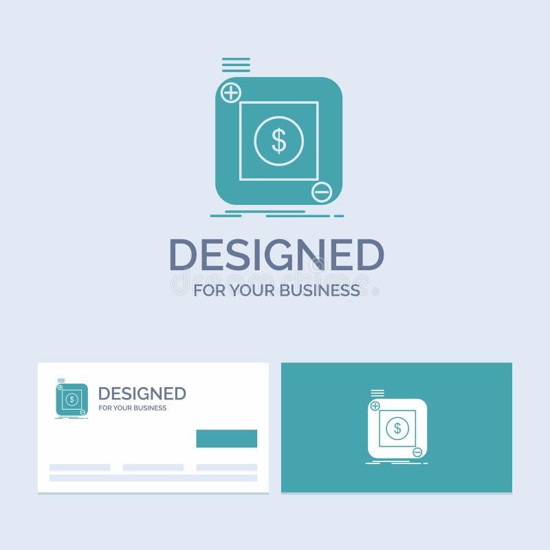 Kauf, Speicher, App, Anwendung, Mobilfunkgeschäft Logo Glyph Icon Symbol für Ihr Geschäft T?rkis-Visitenkarten mit Marke lizenzfreie abbildung