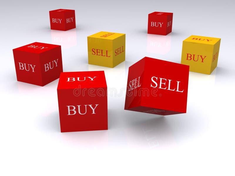 Kauf und Verkauf lizenzfreie abbildung