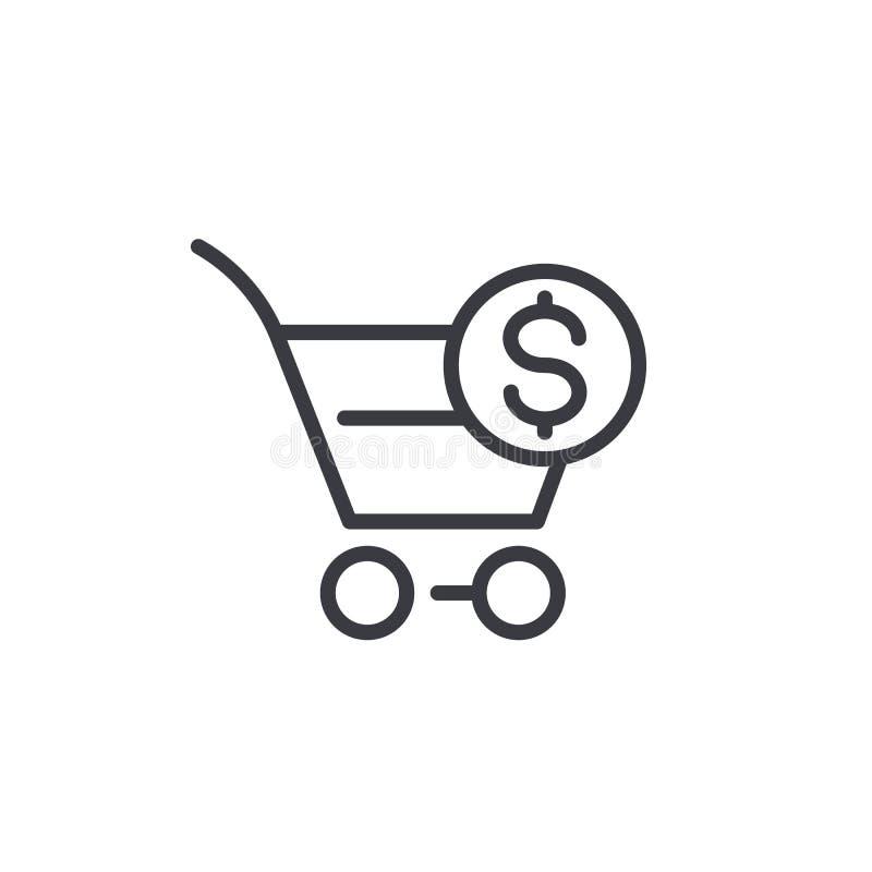 Kaufauftragikone, linear stock abbildung