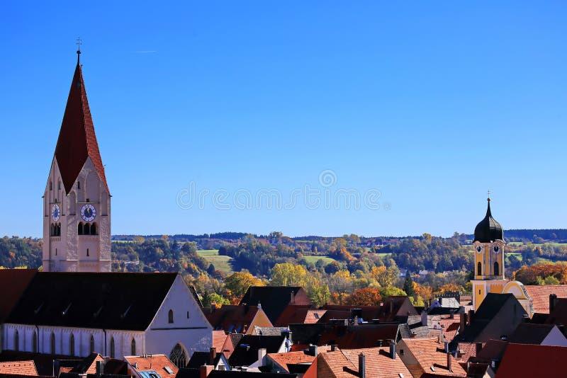 Kaufbeuren é uma cidade em Baviera foto de stock