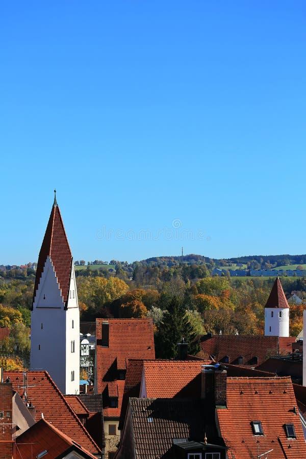 Kaufbeuren é uma cidade em Baviera fotos de stock royalty free