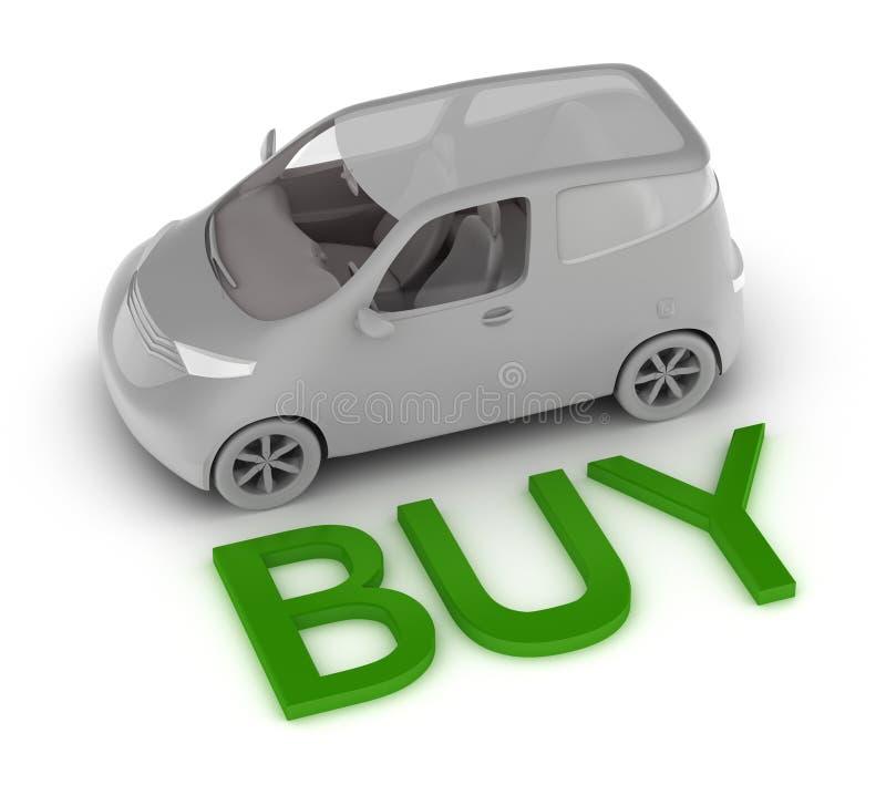 Kaufen Sie ein Auto lizenzfreie abbildung