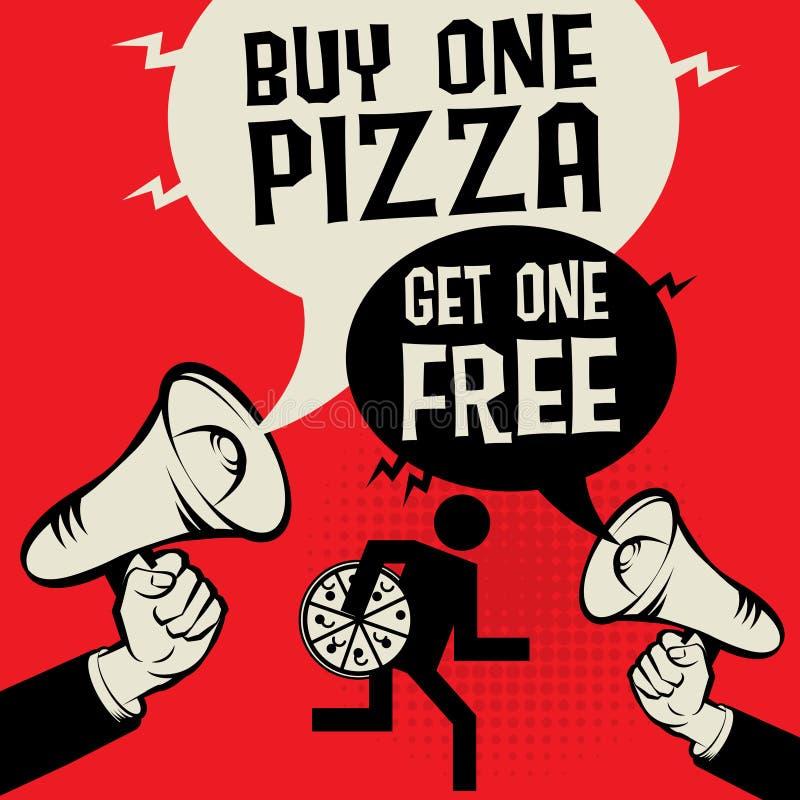 Kaufen Sie eine Pizza - erhalten Sie ein frei lizenzfreie abbildung