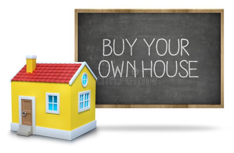 Download Kaufen Sie Ihr Eigenes Haus Auf Tafel Mit Haus 3d Stockbild   Bild  Von Haus
