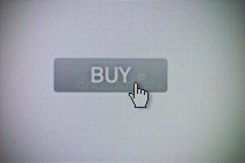 Kaufen Sie Taste stockfoto