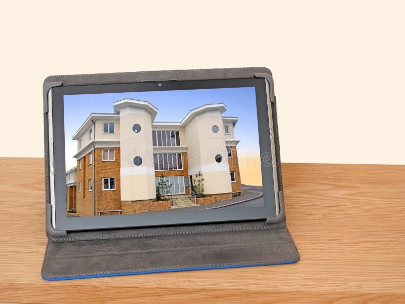 Kaufen, ungewöhnliches Art- DecoEigentum verkaufend on-line-Internet lizenzfreies stockbild