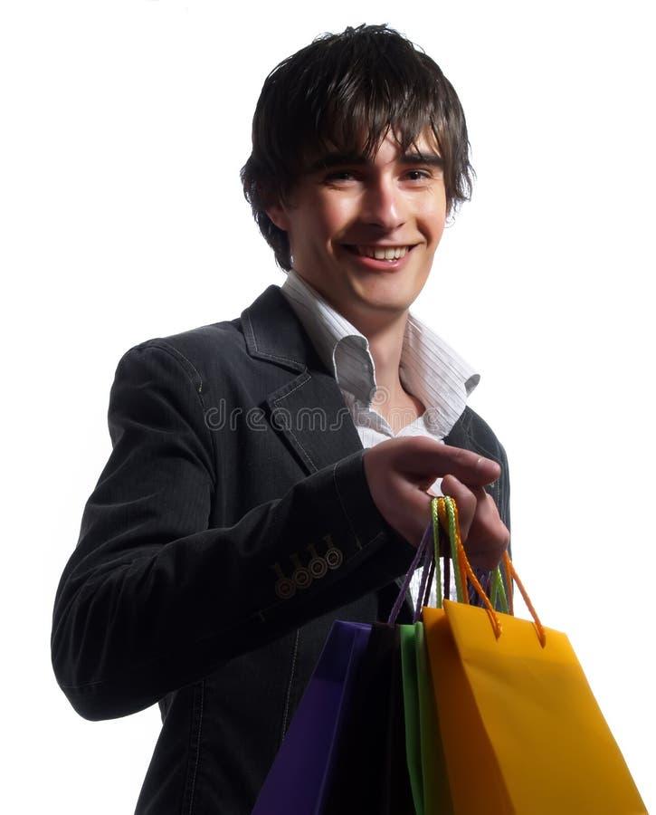 Kaufende modische Kleidung stockfoto