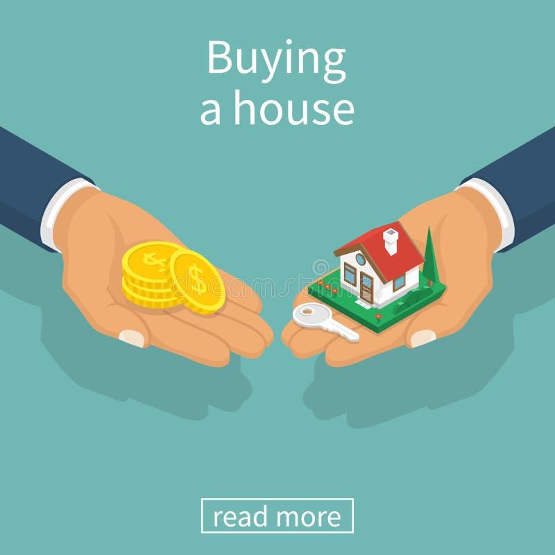 Kaufender Hausvektor lizenzfreie abbildung