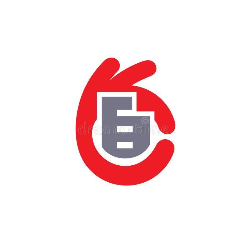 Kaufendes Eigentum abstraktes Zeichen stock abbildung