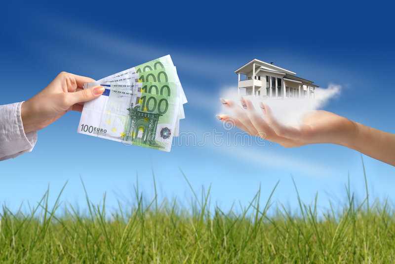 Kaufendes neues Haus lizenzfreies stockbild