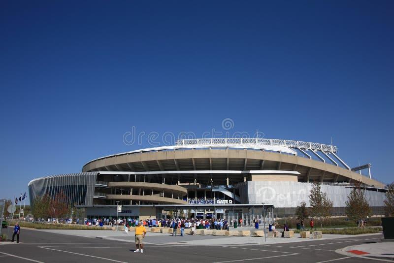 Kauffman Stadion - Kansas City Royals lizenzfreie stockbilder