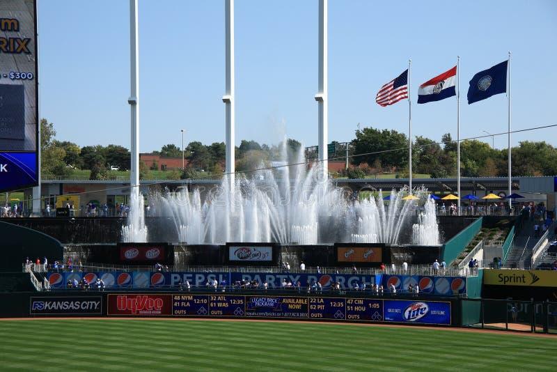Kauffman Stadion - Kansas City Royals stockbild