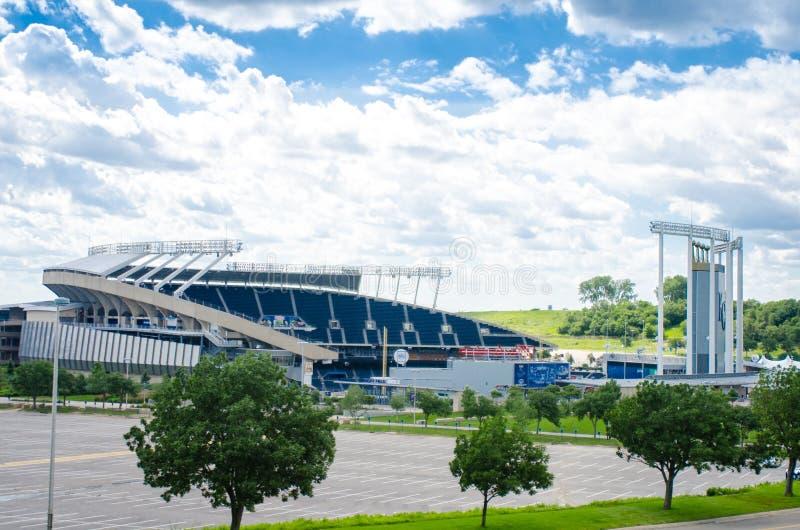 Kauffman Stadium AKA Kansas City Royals. This is Kansas City Kauffman Royals Stadium in Missouri stock photo