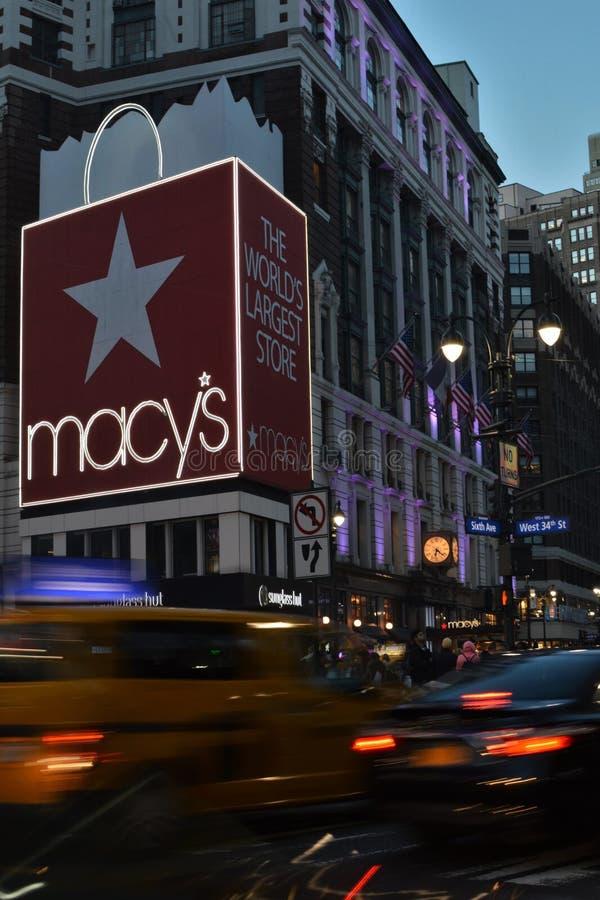 Kaufhaus-Manhattan-Einzelhandel NYC Macys Einkaufsmacy-` s Flaggschiff-Geschäft stockfotos
