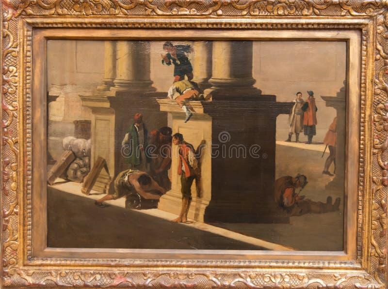 Kaufleute bei der Arbeit durch Canaletto lizenzfreie stockfotografie