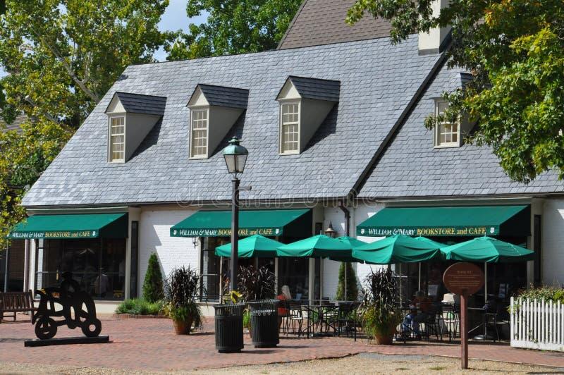 Kaufmanns-Quadrat in Kolonial-Williamsburg, Virginia lizenzfreies stockfoto