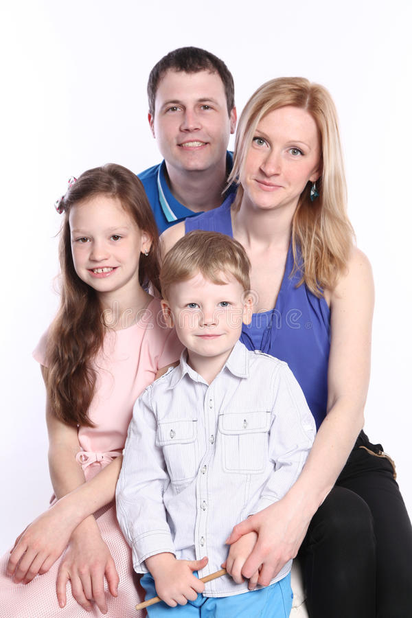 Kaukasische Familie stockbilder