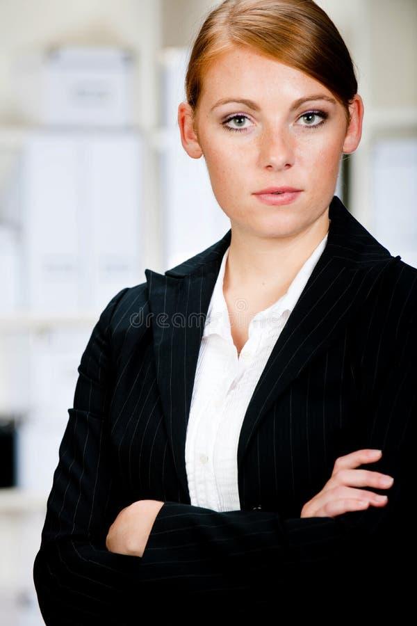Kaukasische Geschäftsfrau stockfotos