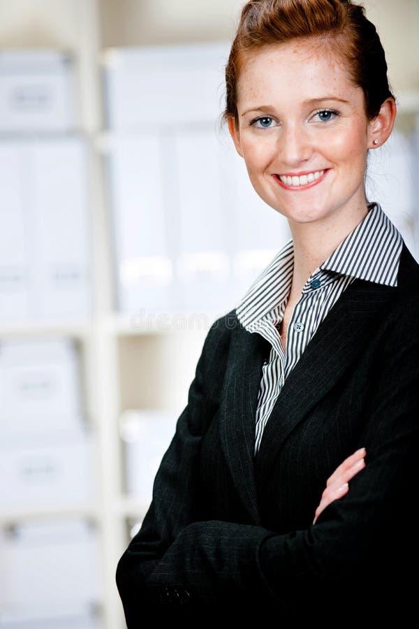 Kaukasische Geschäftsfrau stockbilder
