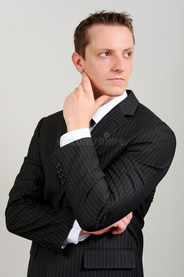 Kaukasische mens in kostuum stock fotografie