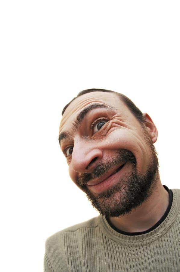 Kaukasischer bärtiger Gesicht verziehendes Mann lizenzfreie stockfotografie
