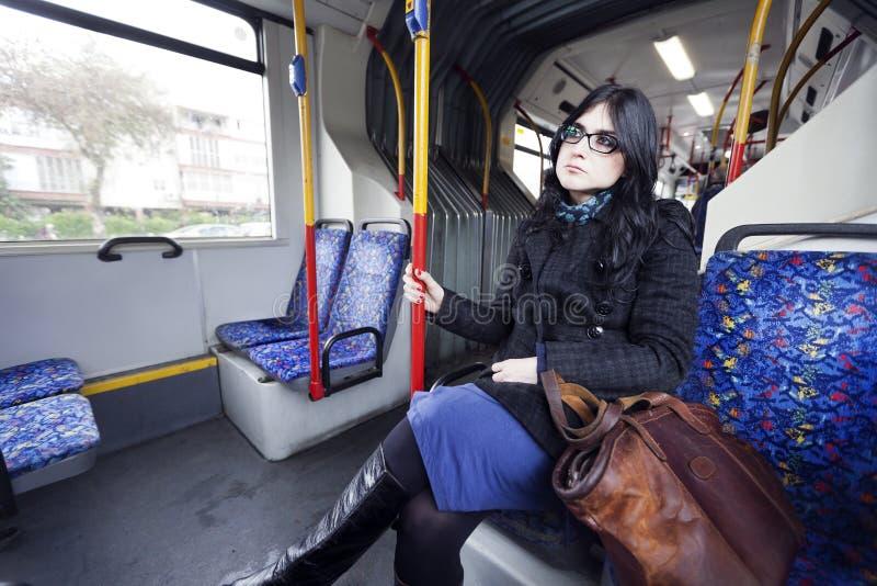 Autobusowa kobieta fotografia royalty free