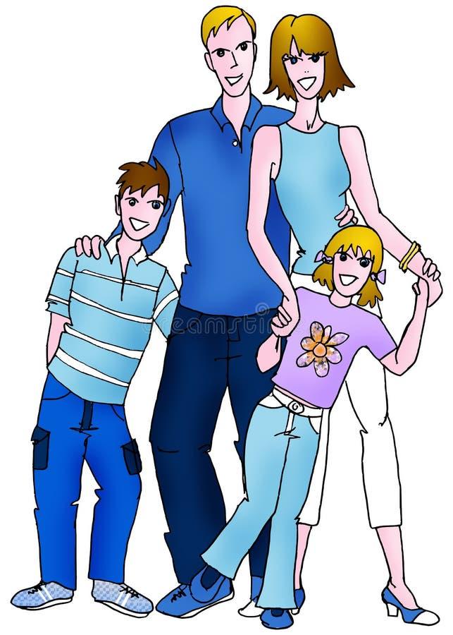 Kaukaska rodzina ilustracji