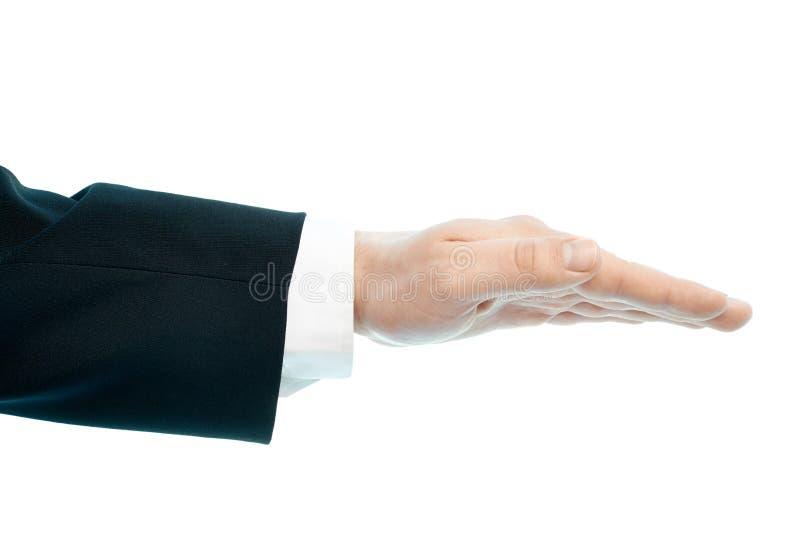 Kaukaski męski ręka skład odizolowywający zdjęcie royalty free