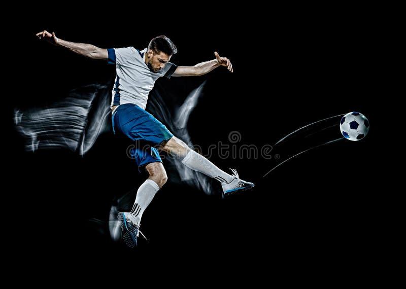 Kaukaski piłkarz czarny obraz tła zdjęcia royalty free