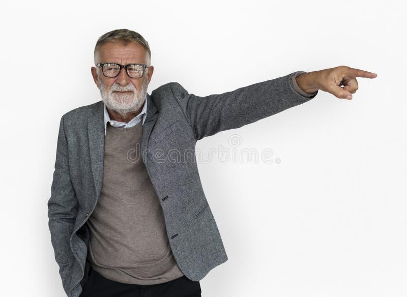 Kaukaski Stary Dojrzały Nieszczęśliwy gest zdjęcia royalty free