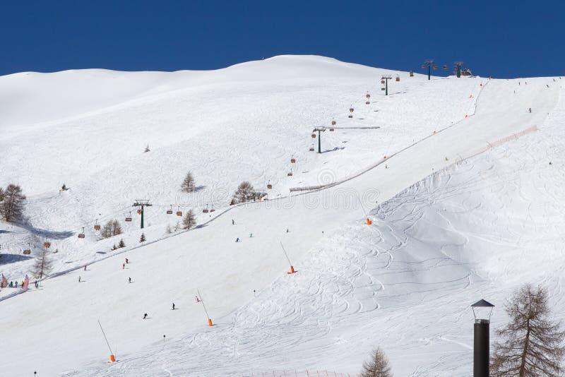 Kaukasus-Berge, Georgia, Skiort Gudauri stockfoto