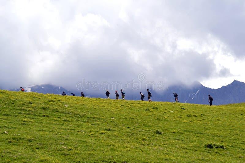 Kaukasus gór wycieczkować zdjęcia stock