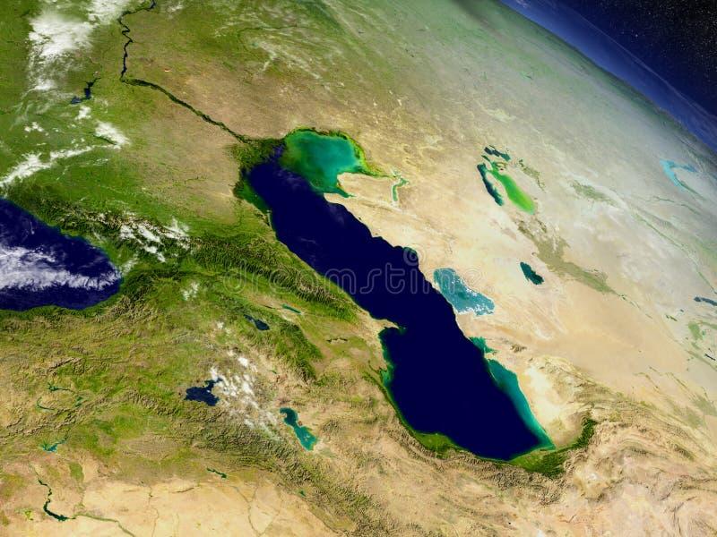 Kaukasus region från utrymme vektor illustrationer