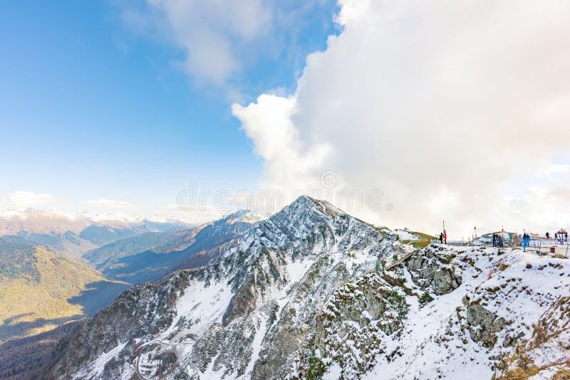 Kaukasus in Sochi lizenzfreies stockfoto