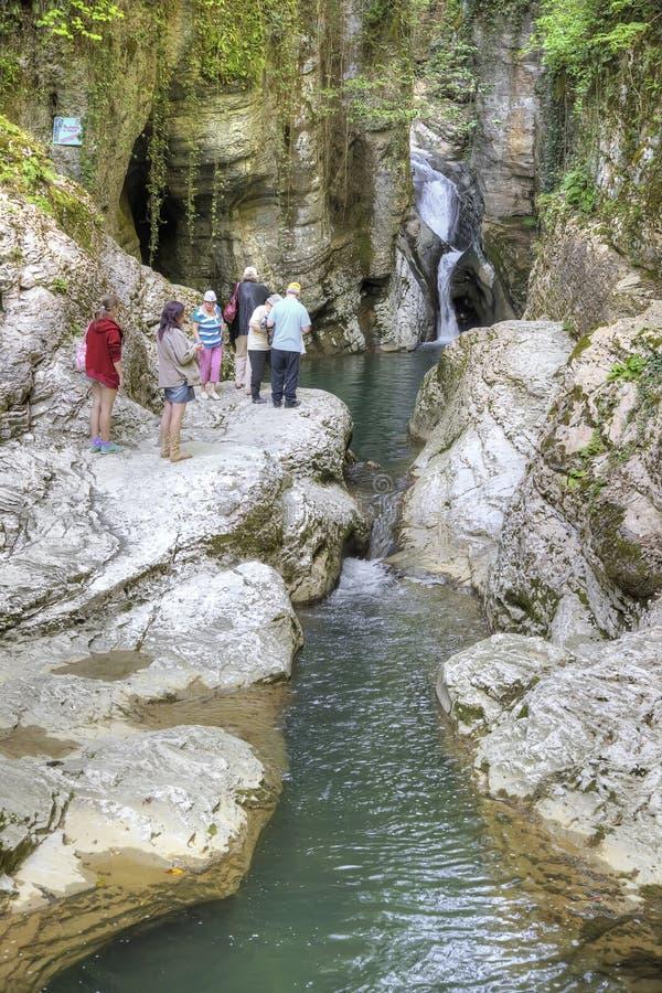 kaukasus Sochi Fluss Agura stockbild