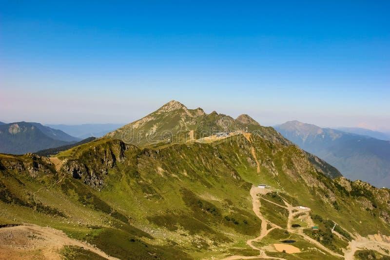 Kaukaz góry Rosa szczyt w lecie Krasnaya polyana, Rosa Khutor, Sochi, Rosja zdjęcia royalty free
