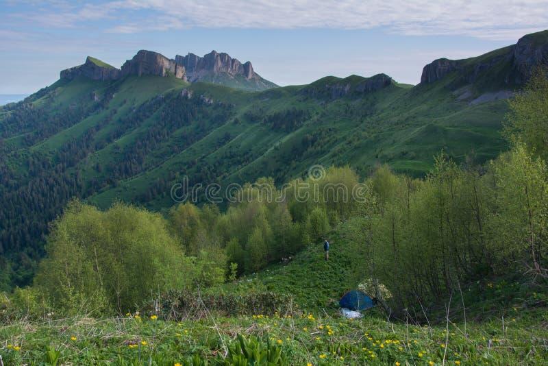 Kaukaz góry są halnym systemem w Zachodnim Azja między Czarnym morzem i morzem kaspijskim w Kaukaz regionie obraz stock