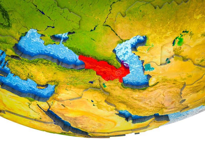Kaukaz region na 3D ziemi fotografia stock