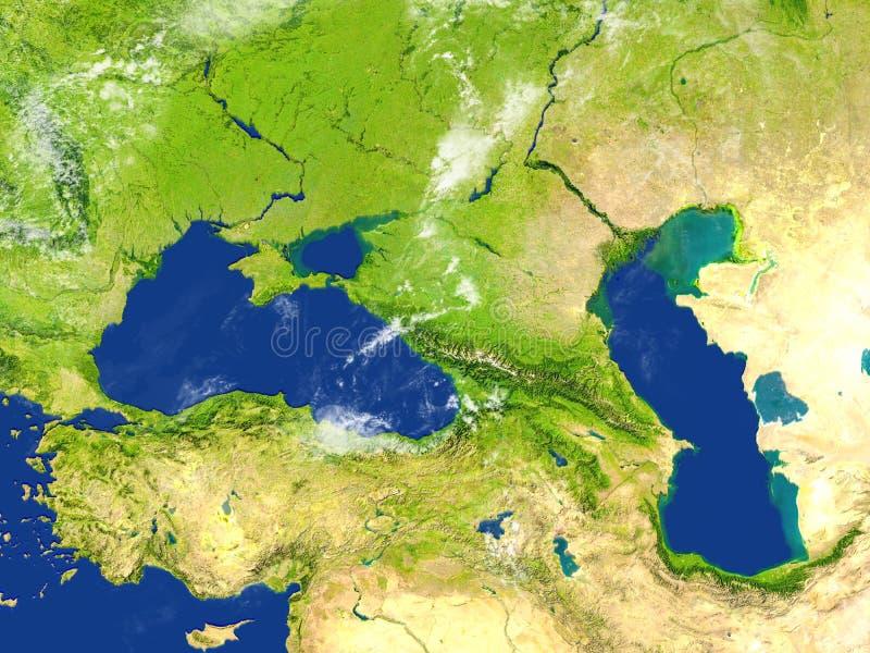 Kaukaz region na planety ziemi ilustracji