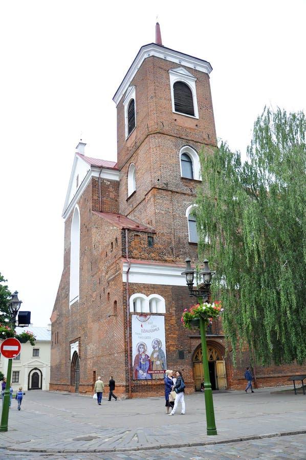 Kaunas agosto 21,2014-Basillica St Peter e Paul de Kaunas em Lituânia imagem de stock royalty free