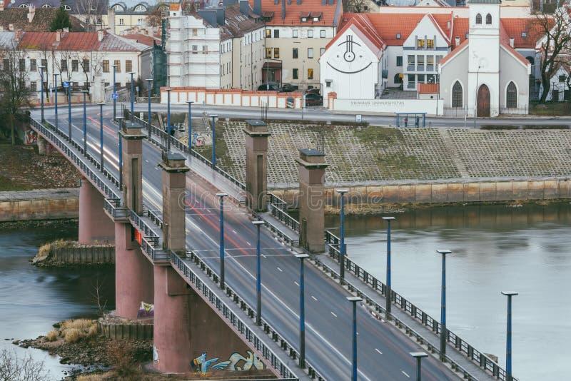 Kaunas Aleksotas most, Lithuania zdjęcia stock
