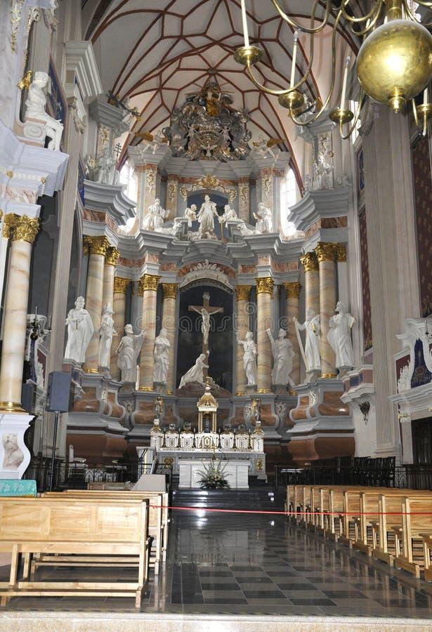 Kaunas August 21,2014- Basillica St Peter and Paul,interior from Kaunas in Lithuania stock photos