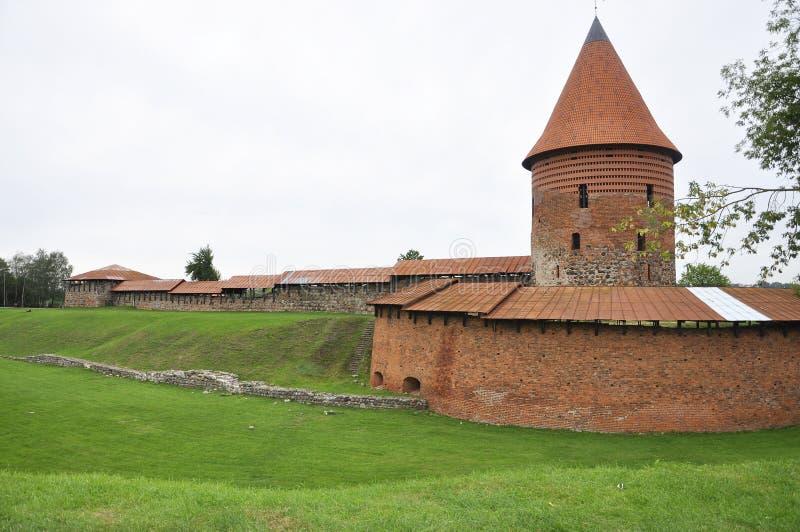 Kaunas August 21,2014-Castle in Kaunas in Lithuania stock photo