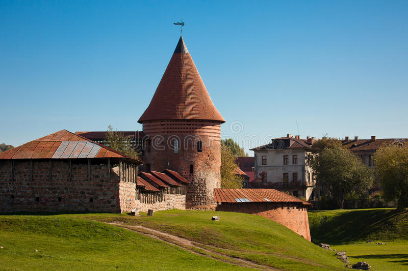 Kaunas Castle. Built during the mid-14th century, in the Gothic style, Kaunas, Lithuania royalty free stock photo