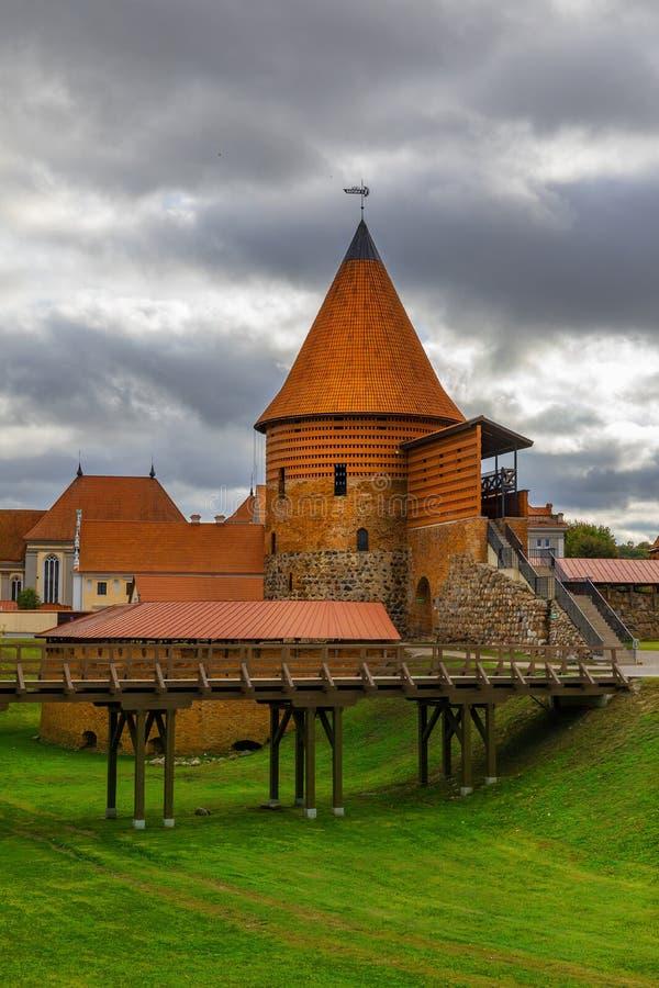 Kaunas Castle, Litauen arkivfoto