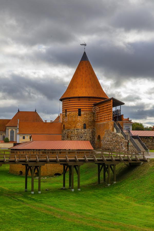 Kaunas Castle, Litouwen stock foto