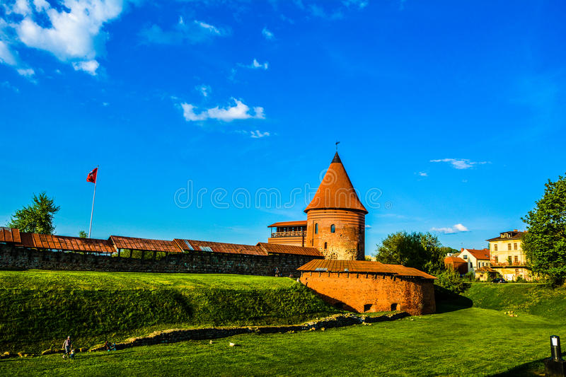 Kaunas castle. Looking great and iconic stock photo