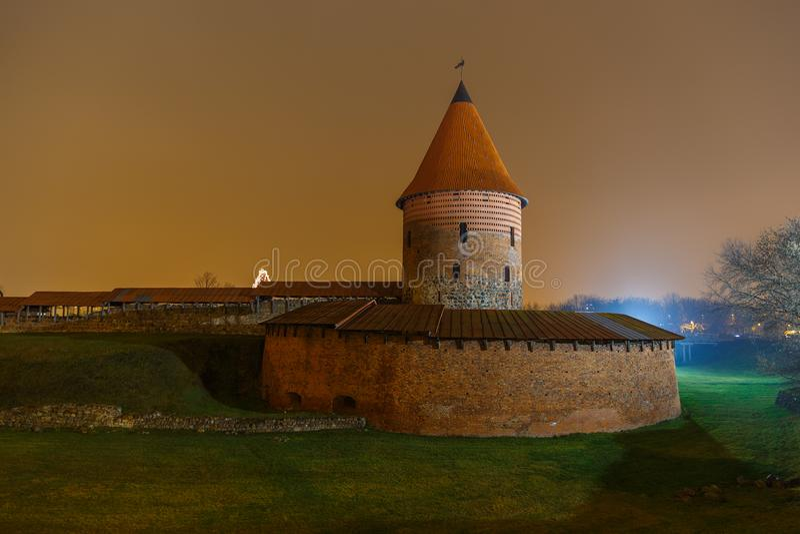 Kaunas Castle, a medieval castle situated in Kaunas. stock photo
